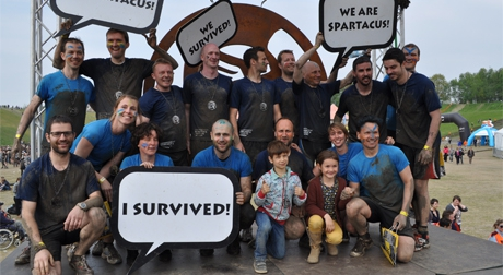 Dappere collega's doen de Spartacus Run